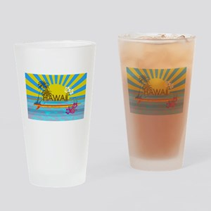 Hawaii Bright Colorful Colors Drinking Glass