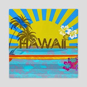 Hawaii Bright Colorful Colors Queen Duvet