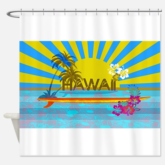 Hawaii Bright Colorful Colors Shower Curtain