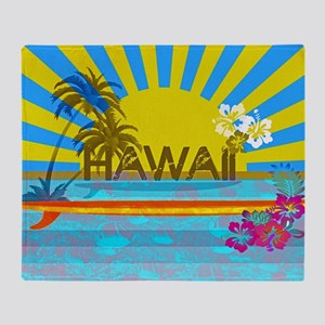 Hawaii Bright Colorful Colors Throw Blanket