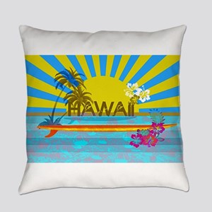 Hawaii Bright Colorful Colors Everyday Pillow