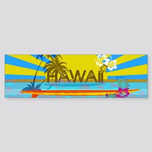 Hawaii Bright Colorful Colors Bumper Sticker