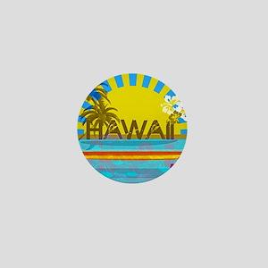 Hawaii Bright Colorful Colors Mini Button