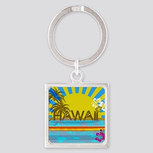 Hawaii Bright Colorful Colors Keychains