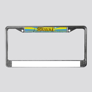 Hawaii Bright Colorful Colors License Plate Frame