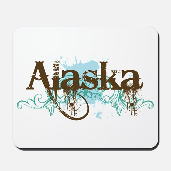 ALASKA grunge Mousepad