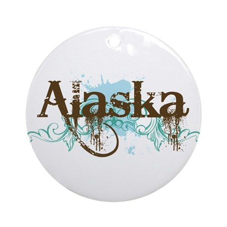 ALASKA grunge Ornament (Round)