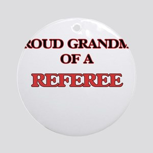 Proud Grandma of a Referee Round Ornament