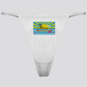 Hawaii Bright Colorful Colors Classic Thong