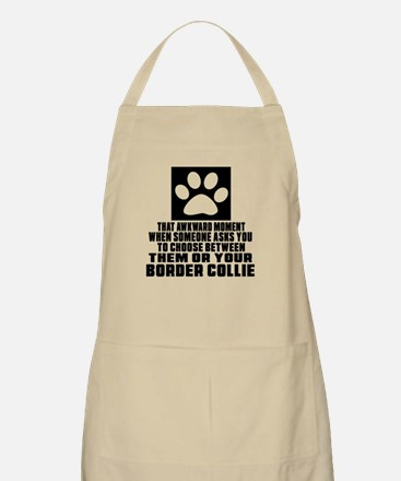 Border Collie Awkward Dog Designs Apron