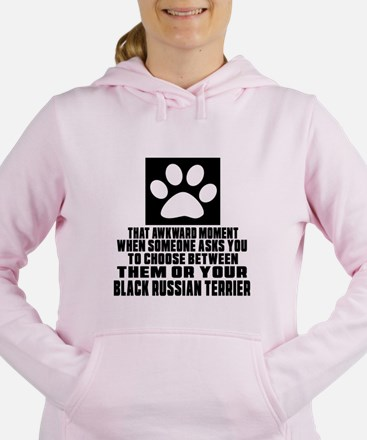 Black Russian Terrier Aw Women's Hooded Sweatshirt