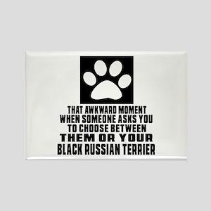Black Russian Terrier Awkward Dog Rectangle Magnet