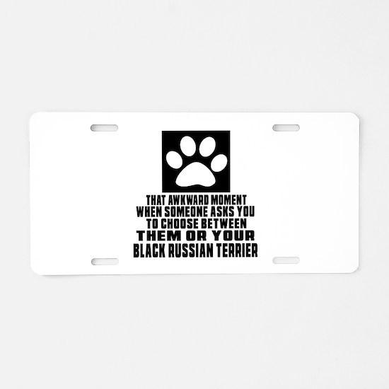 Black Russian Terrier Awkwa Aluminum License Plate