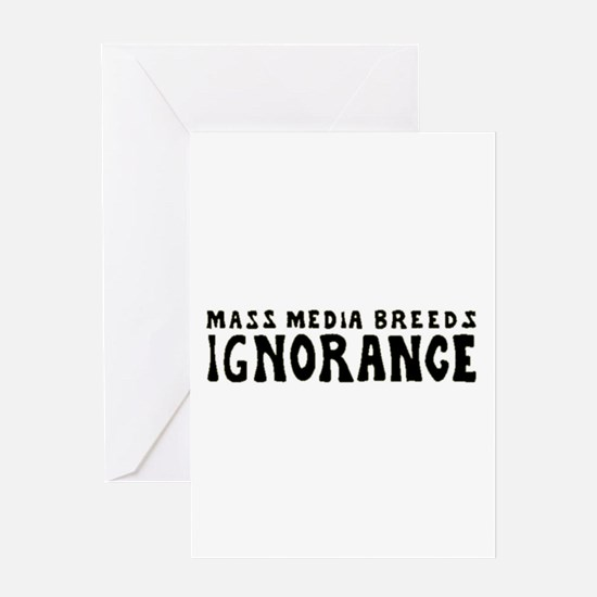 Ignorance Greeting Card