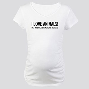 I Love Animals Maternity T-Shirt