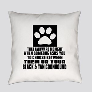 Black & Tan Coonhound Awkward Dog Everyday Pillow