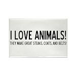 I Love Animals Rectangle Magnet (10 pack)