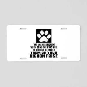 Bichon Frise Awkward Dog De Aluminum License Plate