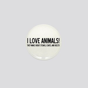 I Love Animals Mini Button