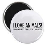 I Love Animals Magnet