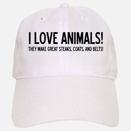 I Love Animals Baseball Baseball Cap