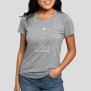 Reading Girl atop books Women's Dark T-Shirt