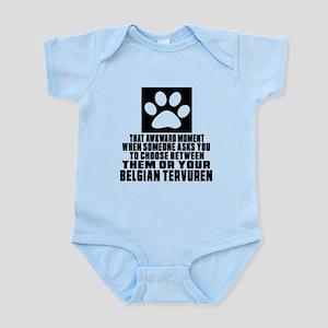 Belgian Tervuren Awkward Dog Desig Infant Bodysuit