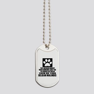 Belgian Malinois Awkward Dog Designs Dog Tags