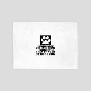 Beauceron Awkward Dog Designs 5'x7'Area Rug
