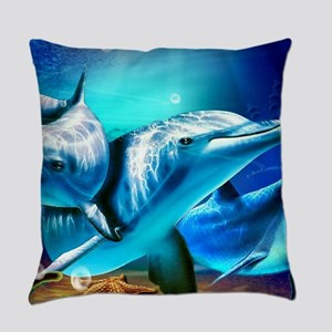 Dolphins Everyday Pillow
