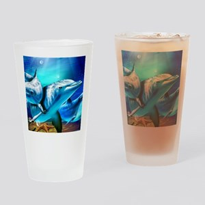 Dolphins Drinking Glass