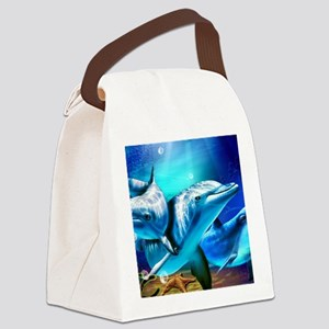 Dolphins Canvas Lunch Bag