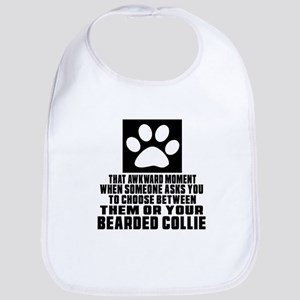 Bearded Collie Awkward Dog Designs Bib
