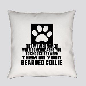 Bearded Collie Awkward Dog Designs Everyday Pillow