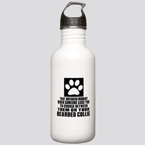 Bearded Collie Awkward Stainless Water Bottle 1.0L