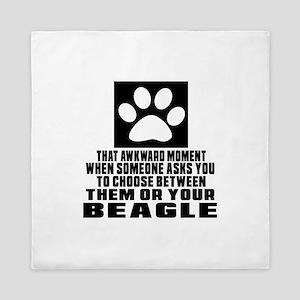 Beagle Awkward Dog Designs Queen Duvet