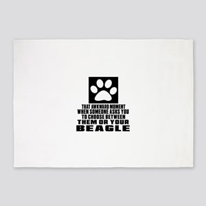 Beagle Awkward Dog Designs 5'x7'Area Rug