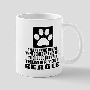 Beagle Awkward Dog Designs Mug