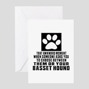 Basset Hound Awkward Dog Designs Greeting Card