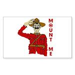 Mount Me Rectangle Sticker