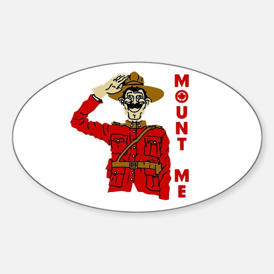 Mount Me Oval Decal