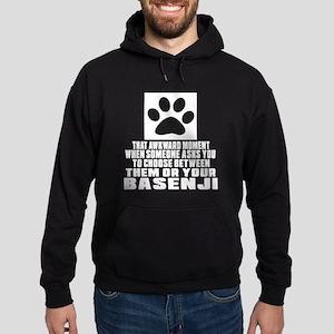 Basenji Awkward Dog Designs Hoodie (dark)