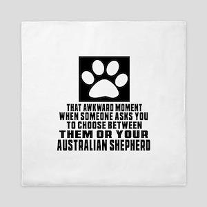 Australian Shepherd Awkward Dog Design Queen Duvet