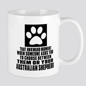 Australian Shepherd Awkward Dog Designs Mug