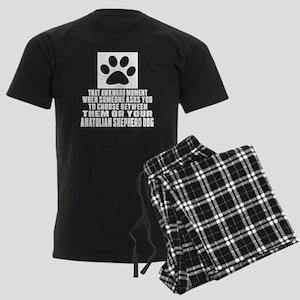 Anatolian Shepherd dog Awkward Men's Dark Pajamas