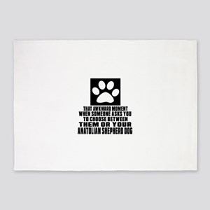 Anatolian Shepherd dog Awkward Dog 5'x7'Area Rug