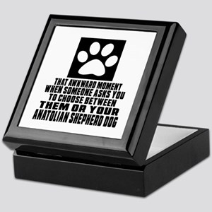 Anatolian Shepherd dog Awkward Dog De Keepsake Box