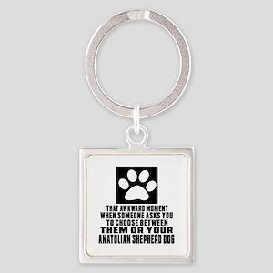 Anatolian Shepherd dog Awkward Dog Square Keychain