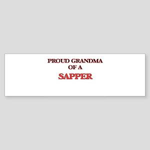 Proud Grandma of a Sapper Bumper Sticker