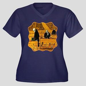 Garden of De Women's Plus Size V-Neck Dark T-Shirt